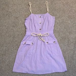 ASOS lilac sundress with rope details
